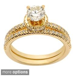 Auriya 14k Yellow Gold 1ct TDW Diamond Bridal Ring Set (H-I, I1-I2)