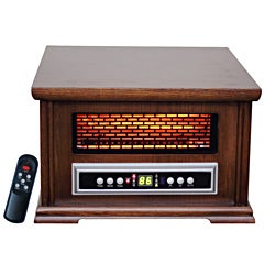 Lifesmart Compact Infrared Heater with Wood Cabinet