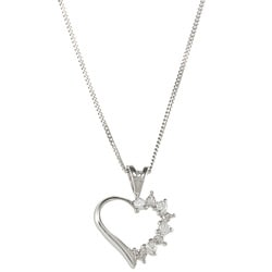 Sunstone 925 Sterling Silver Heart Necklace Made with SWAROVSKI ZIRCONIA