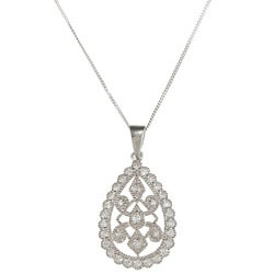 Sunstone Sterling Silver Teardrop Necklace Made with SWAROVSKI ZIRCONIA