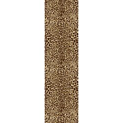 Animal Prints Leopard Gold Runner Non-Skid Area Rug (2' x 6'10)