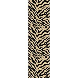 Animal Prints Zebra Black Runner Non-Skid Area Rug (2' x 6'10)