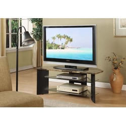K&B Black TV Stand