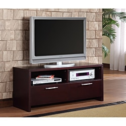 K&B Cherry Finish TV Stand