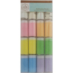 Embossing Powder 16 .035 Ounce Jars-Pastel