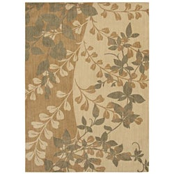 Pacifica Flora Bella Antique Gold Wool Rug (7'9 x 10'10)