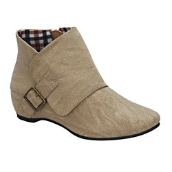 Blossom by Beston Women's 'Amar-22' Taupe Ankle Booties