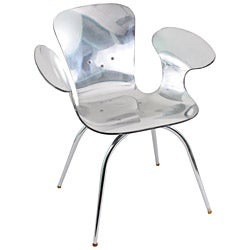 LumiSource Chrome Acrylic Cradle Chair