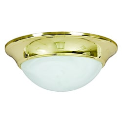 Polished Brass One Light Flush Mount