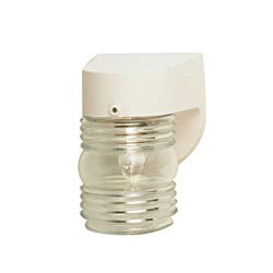 One Light White Outdoor Lantern