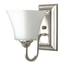 One Light Satin Nickel Bath Sconce