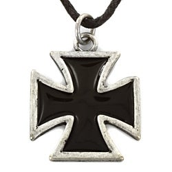 West Coast Jewelry Two-tone Iron Cross Necklace