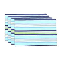Getaway Stripe Ocean Lined Placemat (Set of 4)