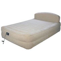 Airtek Queen-size Raised Air Bed with Headboard and Built-in Pump