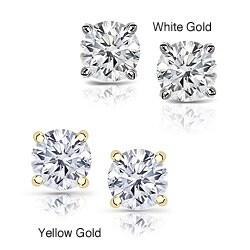 14k Gold 2ct TDW Clarity-enhanced Diamond Stud Earrings
