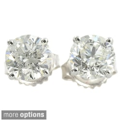 Platinum 3/4ct TDW Clarity-enhanced Diamond Stud Earrings