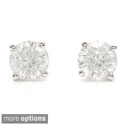 Auriya Platinum 1 1/2ct TDW Clarity-enhanced Diamond Stud Earrings
