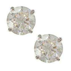 Auriya 18k Gold 1ct TDW Clarity-enhanced Diamond Stud Earrings (J-K, SI1-SI2)