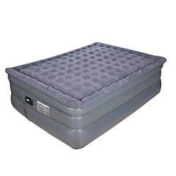 Airtek Deluxe Comfort Coil Queen-size Raised Pillowtop Air Bed