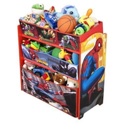 Delta Spiderman Multi-Bin Toy Organizer