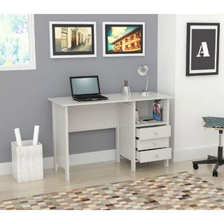 Inval Laricina White Modern Straight Desk