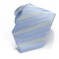 H. Luzzario & Co Light Blue Azzuro Stripe Tie