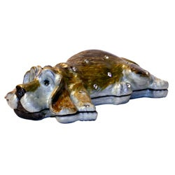 Cristiani Collezione Sleepy Dog Trinket Box