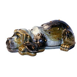 Cristiani Collezione Black Sleepy Dog Trinket Box