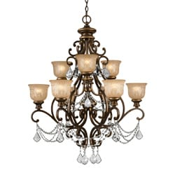 Norwalk 9-light Bronze Umber Chandelier