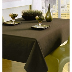Chocolate Brown Textured Tablecloth