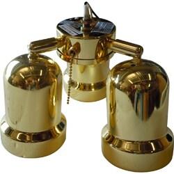 3-light Polished Brass Ceiling Fan Light Kit
