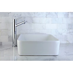 Chrome Faucet and Rounded Corner Vitreous China Sink Set
