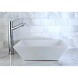 Chrome Faucet and Angle-sided Vitreous China Sink Set