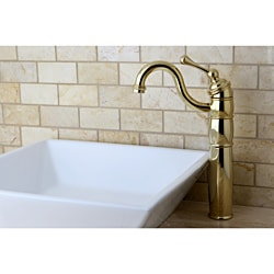 Polished Brass Faucet and Vitreous China Sink