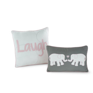 Big Believers Pink Parade Decorative Pillows (Set of 2)