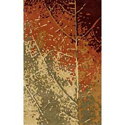 Hand-tufted Monet Leaf Multi Rug (8' x 11')