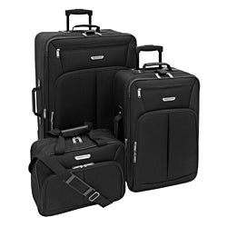 American Trunk &amp; Case Jackson Black 3-piece Luggage Set