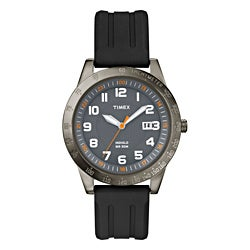 Timex Men's T2N919 Elevated Classics Gunmetal Grey Case Watch