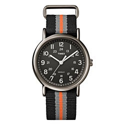 Timex Unisex T2N892 Weekender Slip Thru Stripe Nylon Strap Watch