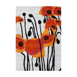 Alliyah Hand Made Tufted Pencil Grey Tulip Flower New Zealand Blend Wool Rug 9' x 12'