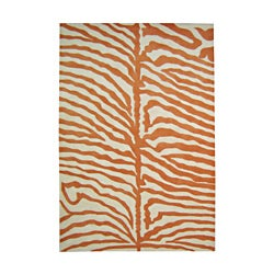 Alliyah Hand Made Safari Orange Wool Area Rug 9&#39; x 12&#39;