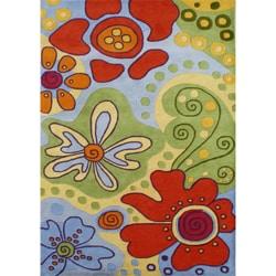 Alliyah Handmade Multicolored New Zealand Blend Wool Rug 8x10