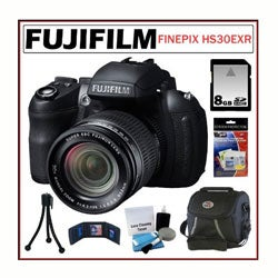 Fujifilm FinePix HS30EXR 16MP Digital Camera 8GB + Accessory Kit