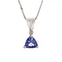 D'yach Sterling Silver Trillion-cut Tanzanite Necklace