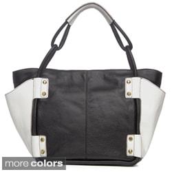 Oryany Dara Side Pocket Leather Tote Bag