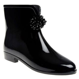 Henry Ferrera Women's Beaded Bow Rubber Rain Boots