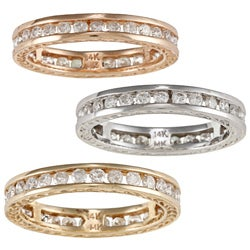 14k Gold 7/8ct TDW Diamond Eternity Band (H-I, SI1-SI2)