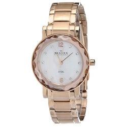 Skagen Women's Rose-gold Steel Link Bracelet Watch