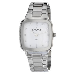 Skagen Women's Square Dial Steel Linked Bracelet Watch