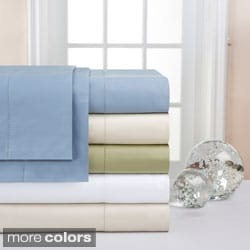 Pointehaven Supima Cotton 600 Thread Count Sheet Set and Optional Pillowcase Separates